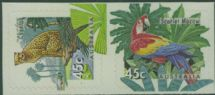Aus SG1485-6 Australian Zoos, Endangered Species self-adhesives set of 2 from booklet (exSB86)